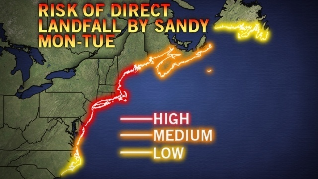 Forecasters: Hurricane Sandy posing increasing threat to NJ