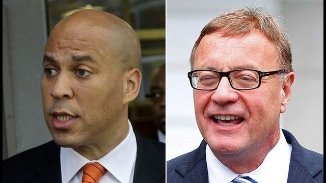 Poll: Cory Booker leading Steve Lonegan in US Senate race in New Jersey
