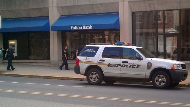 Fulton Bank robbed in downtown Reading