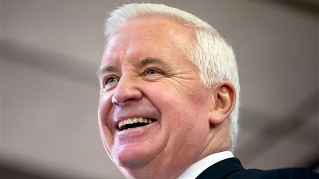 Unopposed in GOP, Tom Corbett raises nearly $15M