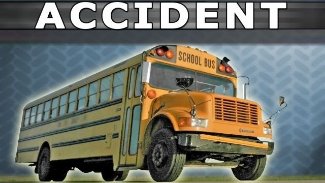 School bus and tractor involved in crash