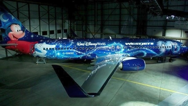 WestJet's 'Magic Plane,' featuring Mickey Mouse, takes to skies for inaugural flight