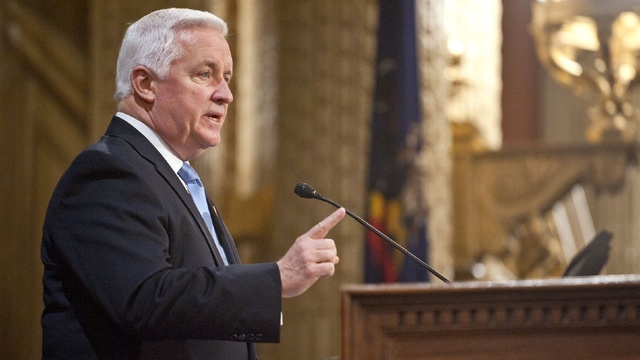 Gov. Tom Corbett, political supporters head to Pennsylvania resort