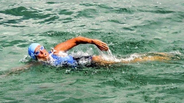 Swimmer Nyad steady in Cuba-Fla. record attempt