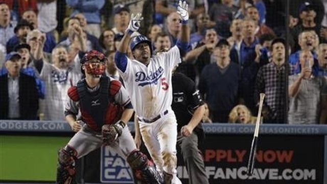 Dodgers beat Braves 4-3 to win NLDS on Uribe homer