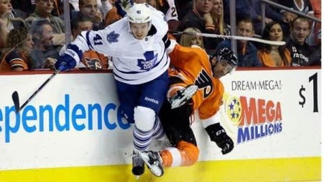 Flyers fall to Maple Leafs 3-1 in opener