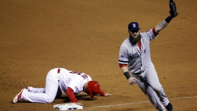 Red Sox beat Cards 4-2 to even World Series at 2-all