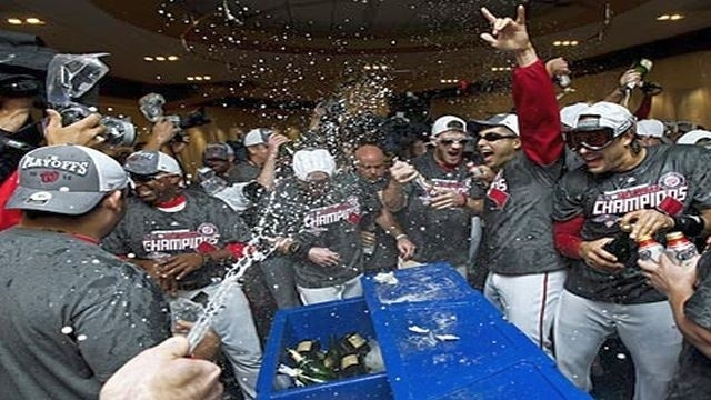 Out of playoffs, Phillies beat Nationals 2-0, but Washington still celebrates NL East tile