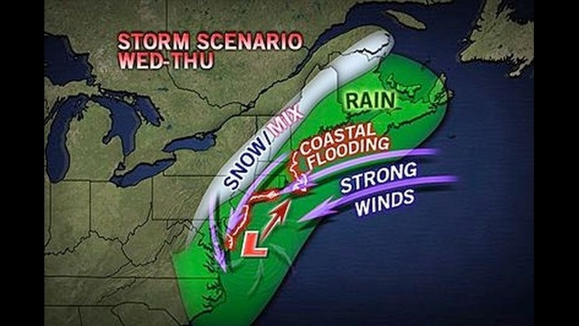 Chilly but sunny for Election Day; nor'easter bringing wind, rain