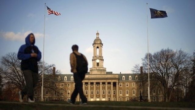 Penn State says fundraising bounced back last year