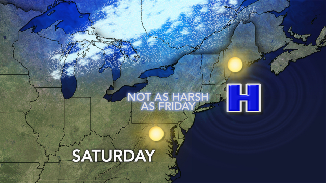 Friday's record cold won't be matched Saturday