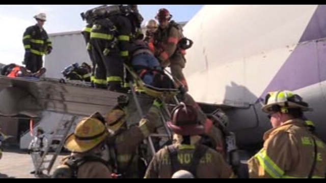 Emergency workers put to the test during LVIA disaster drill