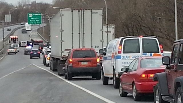 Crash puts brakes on West Shore Bypass traffic