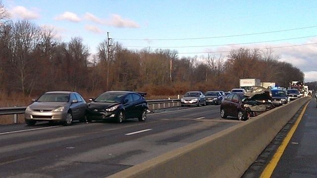 Crash snarls morning commute on West Shore Bypass