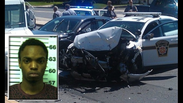 Suspected driver of stolen car charged in crash with police cruiser