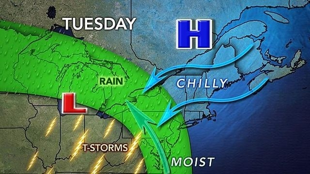 Mild Monday gives way to rain, unsettled week