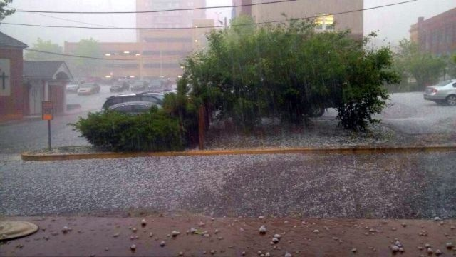 Parts of region pummeled by strong winds, damaging hail