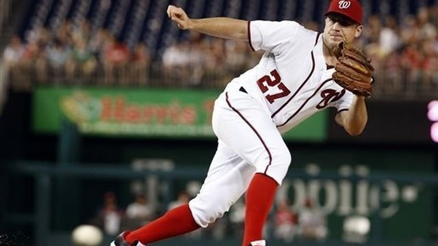 Zimmermann makes LF debut; Nats top Phillies 7-0