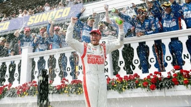 Earnhardt pulls away late for 2nd win of season