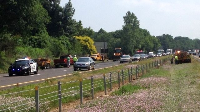 Accident leads to spilled asphalt on Route 222 in Muhlenberg