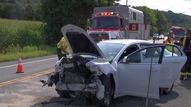 Crash closes intersection in Northampton County