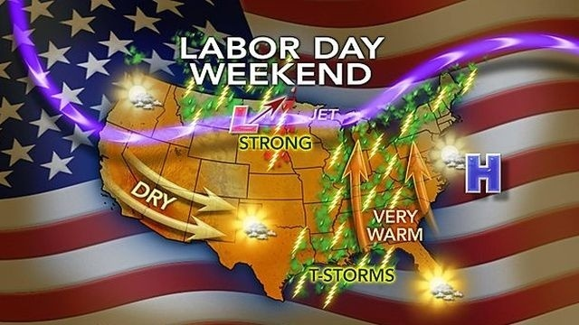 Heat, humidity to build through Labor Day weekend