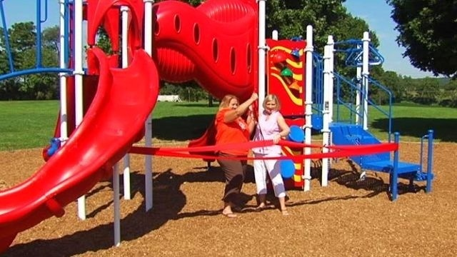 Ribbon cut for school playground built with money from fundraisers