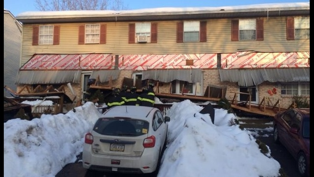 Roof collapses on the front of Allentown homes