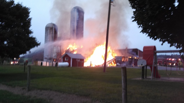 Barn Fire Reported in Upper Bern Township