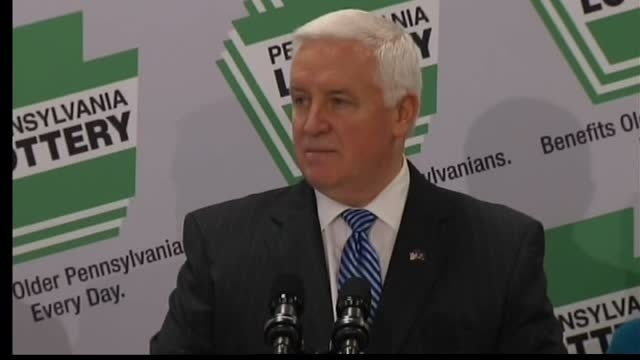 Corbett touts Pa. Lottery deal; AG review up next