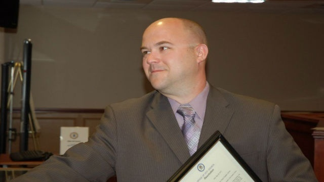 Easton Detective, Matthew Rush, named Officer of the Year