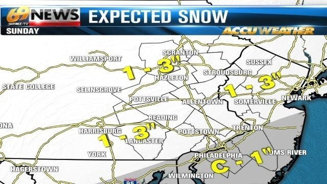 'Nuisance snow event' to leave behind 1 to 3 inches of accumulations