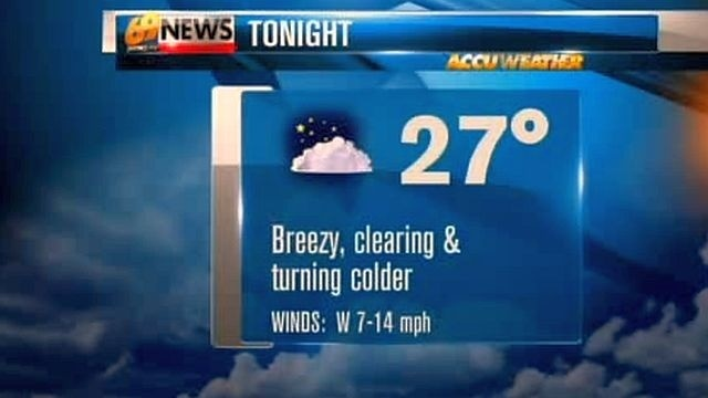 Watch for slick spots as overnight temperatures drop below freezing