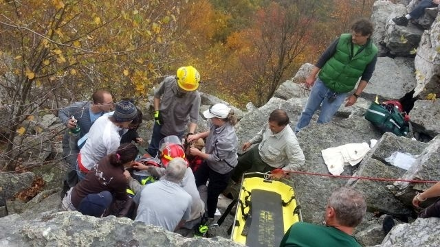 Hiker remains hospitalized after 30-foot fall from cliff