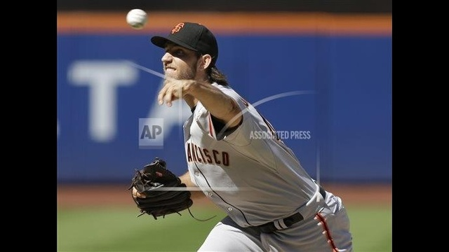 Bumgarner leads Giants over Mets, 2-1