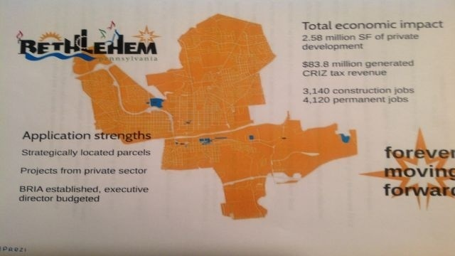 Major projects proposed in Bethlehem CRIZ