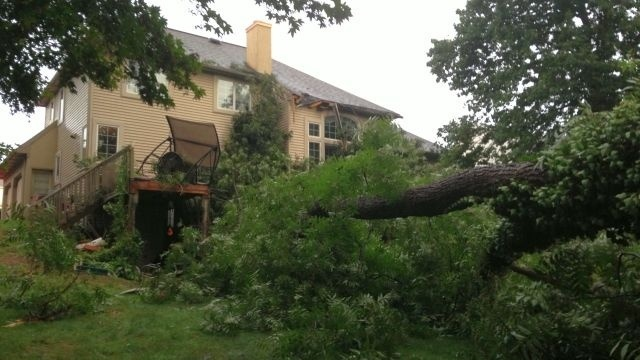 Fallen tree on home, entrapment reported in Muhlenberg