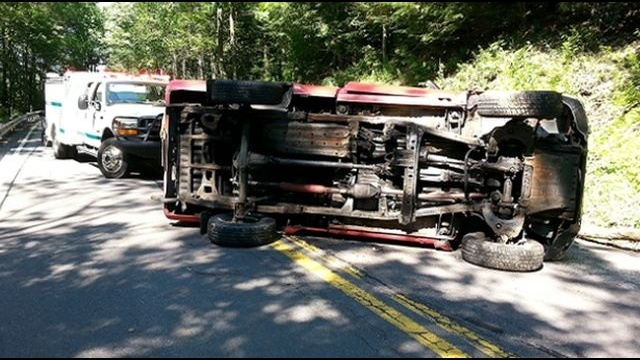 Driver injured in vehicle rollover in Schuylkill County