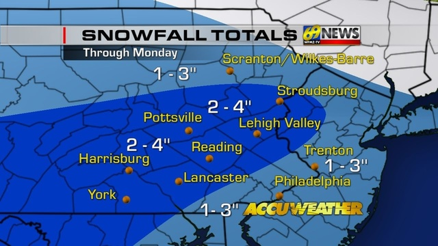 Late-weekend storm may bring snow to much of region