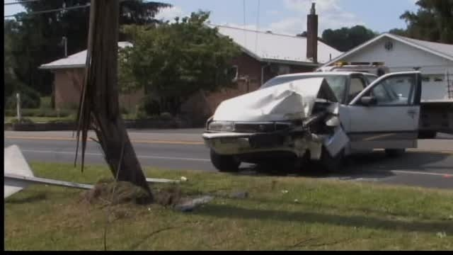 Police: Woman who hit utility pole was asleep behind wheel