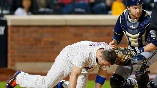 Wright beaned in Mets' 4-2 loss to Brewers