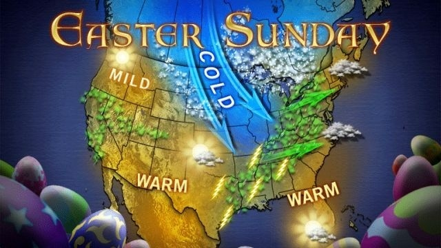 Milder weekend, Easter afternoon could be wet