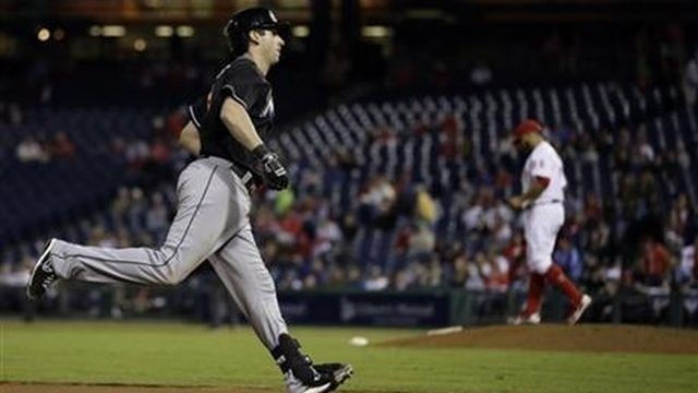 Lucas' HR gives Marlins 4-3 win over Phillies