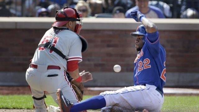 Martin whiffs 9 but Phillies lose to Mets 11-3