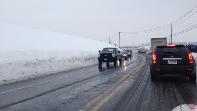 Freezing rain causes dangerous conditions during morning commute