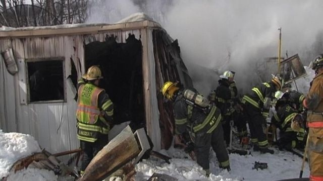 1 sent to hospital after mobile home fire in Northampton  County