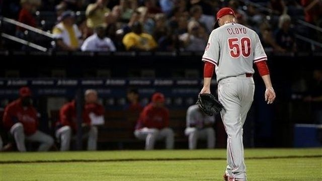 Cloyd rocked in Phillies' 7-1 loss to Braves