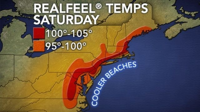 Heat indexes near 100 with high humidity for weekend