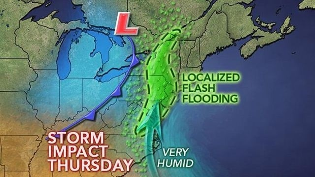 August begins on a wet note, flash flooding possible