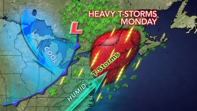 Happy Labor Day: Expect heavy showers at any time